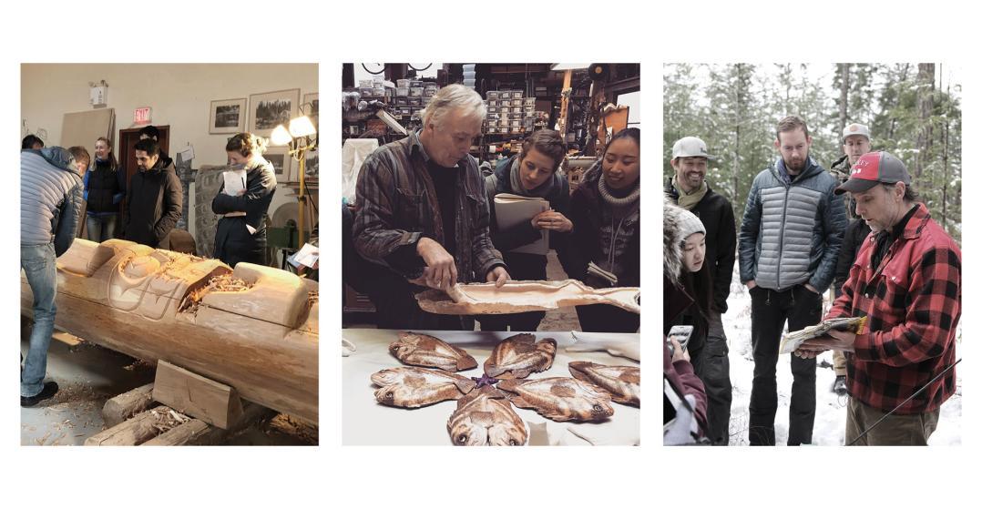 Students interview artists and innovators on Quadra Island, B.C.
