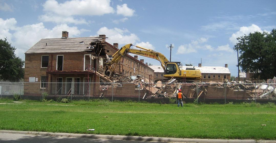 Demolition of Lafitte Project buildings, 2008