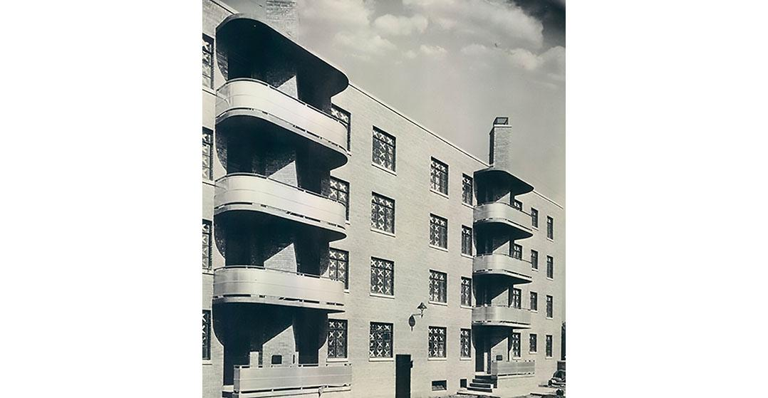 Newly constructed Trumbull Park Homes, Chicago, 1937